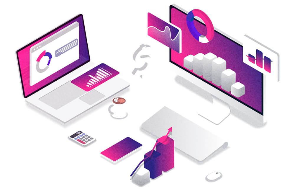 ilustrações de computador, tablets e outros